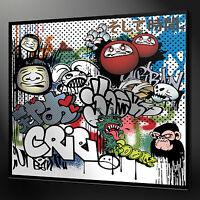 GRAFFITI URBAN DESIGN CANVAS PRINT PICTURE WALL ART READY TO HANG