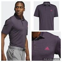 Adidas Golf Men's Ultimate Space Dye Striped Polo Shirt- Purple / Berry / Blue