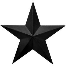 "Black Rustic Dimensional Barn Star - 11"" Country Farmhouse Home Decoration"