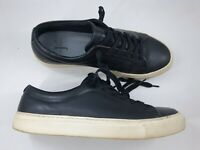 Jasper Conran size 8 (42) black leather trainers lace up flat casual loafers