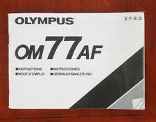 OLYMPUS OM 77AF INSTRUCTION MANUAL/174962