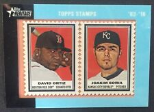 Topps Heritage 2011 Stamps David Ortiz / Soria Red Sox Rare /62 Mint Card 1962