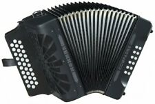 Hohner Button Accordion Compadre EAD, With Gig Bag And Straps, Black