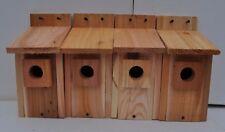 """4 bluebird houses  HOLE SIZE 1 1/2""""   handmade .5/8 cedar"""