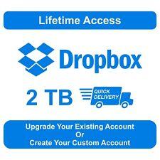 Dropbox Premium 2TB  Custom Account  Lifetime Account  Quick Delivery