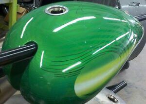Viper Motorcycle Company Fuel Tank 4799999 Steel Gas Tank Custom Green