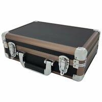 Black Aluminium Flight Carry Case Bronze Camera Tool Travel Camera Storage Box