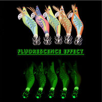 10pcs Saltwater Fishing Lures Strong Luminous Squid Jigs 2.5# 3.0# Hard Baits