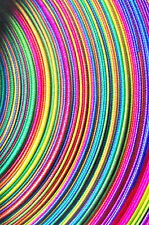 Rainbow Bias Binding 20mm Wide  Multi-coloured  Prym Sold Per Metre(s)