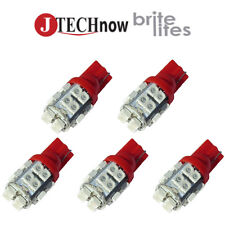 Jtech 5x T10 20 SMD Red LED Super Bright Car Lights Bulb W5W, 194, 168, 2825