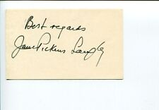 Jane Pickens Langley Broadway Radio Singer Signed Autograph