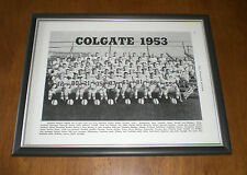 1953 COLGATE FOOTBALL VARSITY TEAM FRAMED B&W