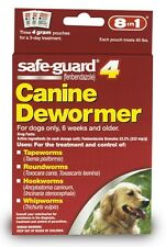 New listing 8 in 1 Safeguard 4 Canine Dewormer for Large Dogs 4 gram