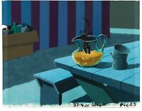 Charlotte's Web Production Cel and Key Master background obg Templeton Wilbur
