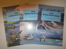 Russia Duck Stamp Year Sets 6 Folders As Issued>1991-94,99 & 2003 Stamps MNH VF