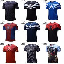 Men Women T Shirt Superman Batman Spider Man Captain America Hulk Iron Man Shirt