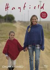 Sirdar 7812 Knitting Pattern Womens Girls Poncho in Hayfield Chunky Tweed