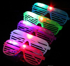 12 PCS Light Up Shutter Glasses LED Shades Flashing Rave Wedding Rock Party