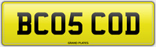 CODS FISH MONGER NUMBER PLATE BC05 COD REG 2005 CARS ONWARD CODLEY CODER CODING