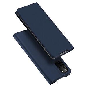 DUX DUCIS Faux Leather Wallet Smart Flip Case for Samsung Galaxy S20 Plus - Blue
