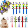 Baby toy Bell Jingle Rainbow Shaker Stick Educational Music Instrument Toy GHY
