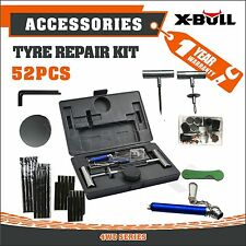 X-BULL Tyre Puncture Recovery Repair Kit  Plugs Tube 52PCS New Heavy Duty 4WD