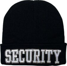 Black Deluxe Acrylic Embroidered Security Watch Cap