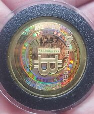 Rare 2013 Lealana 0.1 BTC *Unfunded* Physical Bitcoin Authentic Brass CASASCIUS