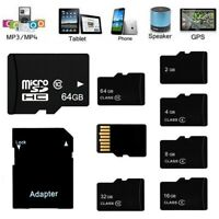 2GB/4GB/8GB/16GB/32GB/64GB Micro SD TF Flash Memory Card High Speed W/Adapter