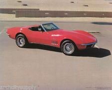 SMALL POSTER:CARS :1969 CORVETTE CONVERTIBLE - RED -FREE SHIP ! #29-629  LP39 V