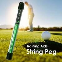 Golf Alignment Sticks Swing Putting String Pegs Golf Übungshilfen