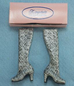 """Kingstate Snakeskin Boots Shoes for 16"""" Tonner Tyler Gene Alex Doll"""