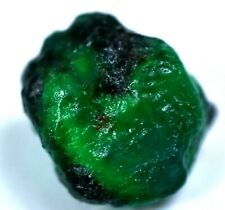 NATURAL GREEN COLOMBIA EMERALD 17.65 CT CERTIFIED FACET GRADE ROUGH GEM !