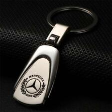 Metal Zinc Alloy Car Logo Keyring 360° Spin Key Chains Holder for Mercedes-Benz