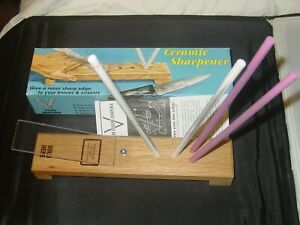 IDAHONE CS24 CERAMIC SHARPENER V TYPE 4 ROD SHARPENING HONE KNIFE TOOL DESIGN