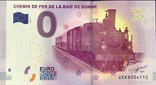 BILLET 0 ZERO EURO  SOUVENIR CHEMIN DE FER DE LA BAIE DE SOMME 2017 BILLET FAUTE