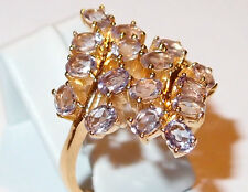 16-stone Pale Amethyst Floral Ring (oval, 2.50ct) in gold bond, Size T.