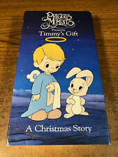 Precious Moments Timmy's Gift A Christmas Story  VHS Used Tape Movie Cartoon