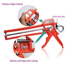 New Silicone Sealant Caulking Caulk Gun Nozzle Cartridge Cutter Flow Tool