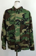 Mens L Military Army Camo Jacket Cargo Utility Style Camouflage