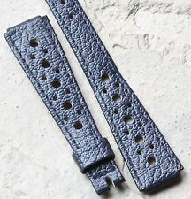 Ladies blue vintage Corfam rally band 12mm ends 1960s/70s NOS 10mm buckle end