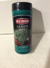 Weiman Granite Wipes 30 Wipes Cleans and Polishes All Solid Surface Countertops