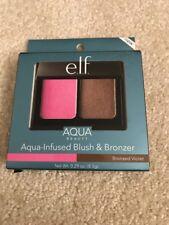 New E.L.F. ELF Aqua-Infused Blush & Bronzer Bronzed Violet 57039