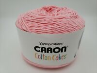 Yarnspirations Caron Cotton Cakes Yarn, Frosted Pink, 530 Yards, 8.8oz ☆ New ☆
