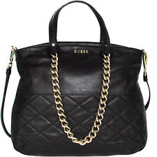 GUESS borsa in pelle nera con catene leather handbag Made in Italy Tasche €295