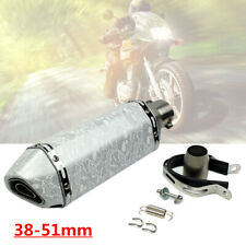 38-51mm Motorcycle Modified White Scorpion Hexagonal Muffler Baffle Exhaust Pipe