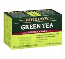 Bigelow Pomegranate Green Tea 20 Tea Bag Box 💯 % Manufact. USA 🇺🇸 ( 2 Pack )