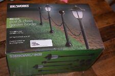 Ideaworks Solar LED Post & Chain Garden Border