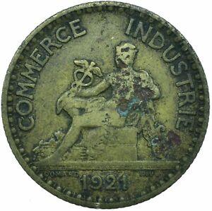 COIN / FRANCE / 1 FRANC 1921 CHAMBERS DE COMMEMRCE  #WT19560