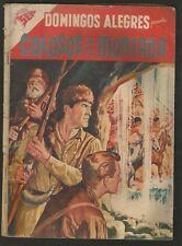 Domingos Alegres #206 Colosos De La Montaña Comic Spanish Mexican Novaro 1958